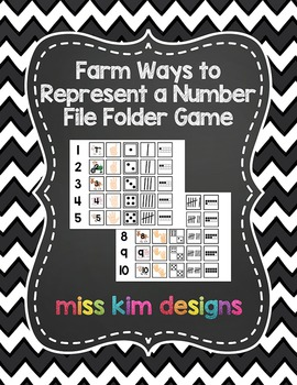 Farm Ways to Represent A Number File Folder Game for stude