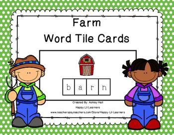 Farm Word tile Cards