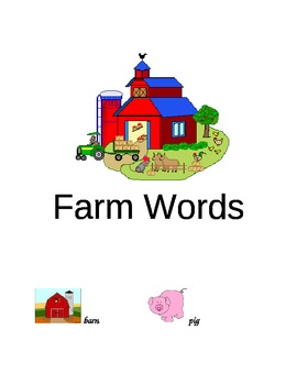 Farm Words Folder