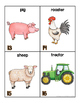 Farm Words for writing center and write-the-room