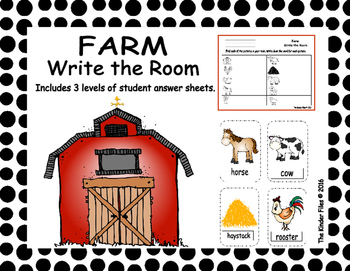 Farm Write the Room- Includes 3 levels of answer sheets