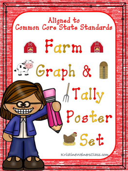 Graph and Tally Poster Set: Farm Pictures
