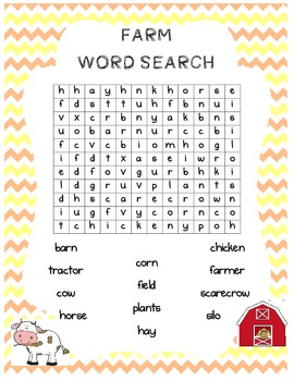 Farm word search FREE!