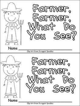 Farmer, Farmer, What Do You See Emergent Reader for Kinder