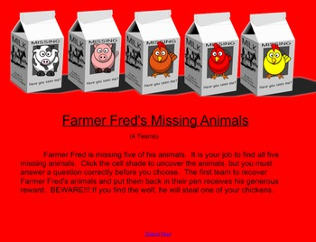 Farmer Fred SmartBoard Review Game
