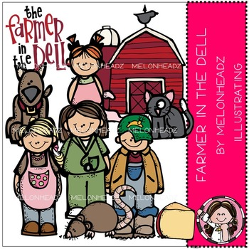 Melonheadz: Farmer in the Dell clip art - COMBO PACK