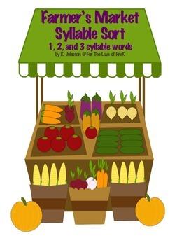 Farmers Market Syllable Sort