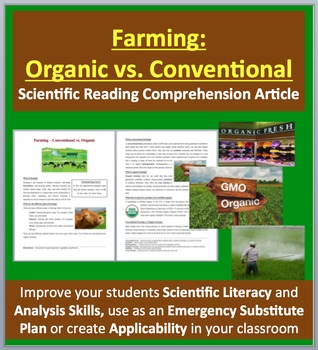 Farming: Organic vs. Conventional - Science Reading Article