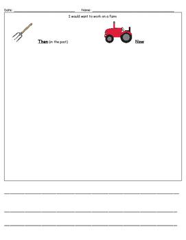 Farming Then & Now-Opinion Writing-ReadyGen Unit 2