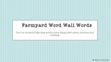 Farmyard Word Wall Words