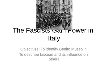 Fascists Gain Power in Italy