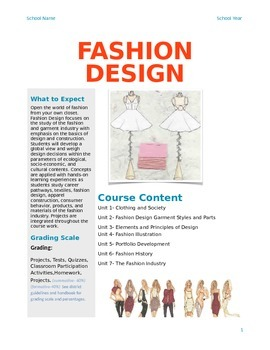Fashion Design Course Syllabus