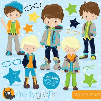 Fashion boys clipart commercial use, vector, digital - CL777