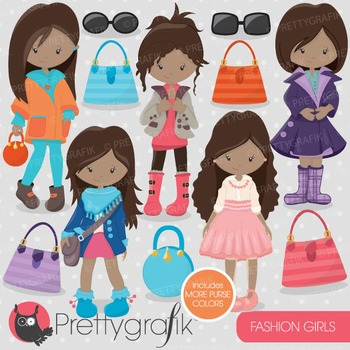 Fashion girls clipart commercial use, vector graphics, dig