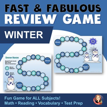 Fast & Fabulous Winter Flash Card Review Game