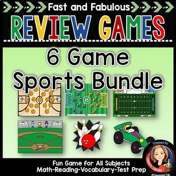 Fast & Fabulous Flash Card Review Games - Super Sports Bun