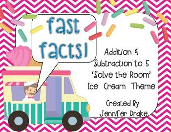 Fast Facts!  Ice Cream 'Solve the Room' For Addition/Subtr
