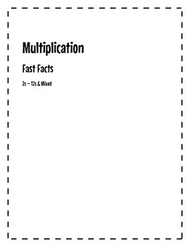 Fast Facts Multiplication Practice