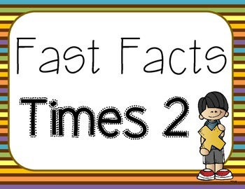 Fast Facts Times 2 Flashcards Task Cards Scoot