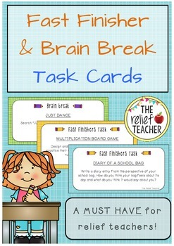 Fast Finisher & Brain Break Task Cards *A must have for re