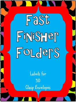 Fast Finisher Files Folder Labels