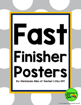 Fast Finisher Posters