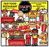 Fast Food Restaurant Clip Art Bundle