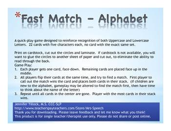 Fast Match - Alphabet