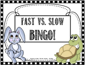 Fast Tempo vs. Slow Tempo BINGO for the Elem. Music Classroom