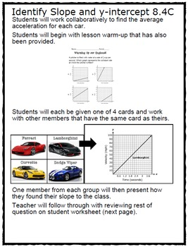 Fast and Furious Math: Identify Slope and y-intercept 8.4C