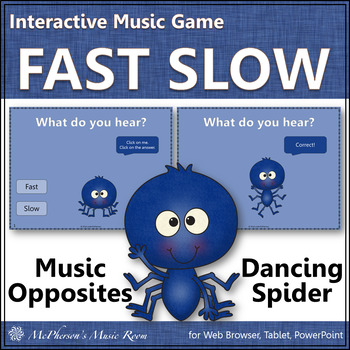 Fast and Slow Dancing Spider {Interactive Music Game}