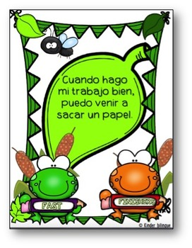 Fast finishers packet in Spanish (FROG style)