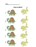 Fast or Slow Printable with Clip Art