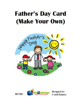 Father's Day Card (Make Your Own)