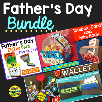 Father's Day Craft and Gift Bundle: Options for Dad, Mom o