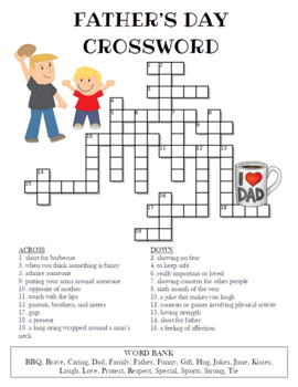 Father's Day Crossword Puzzle