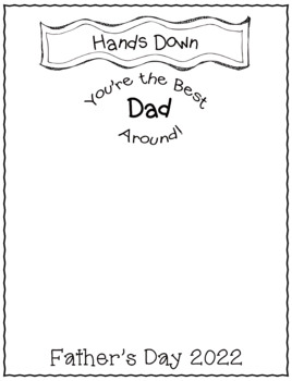 Father's Day Handprint Craft- Hand's Down Best Dad Around-
