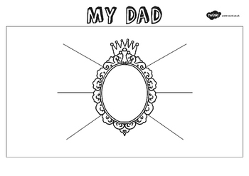 Father's Day 'My Dad' Description Worksheet