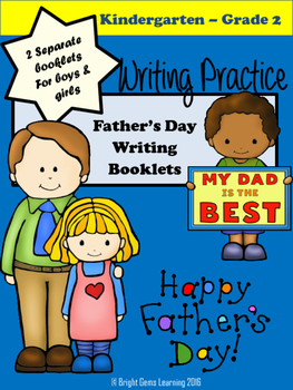 Father's Day Printable Booklet - Bright Gems Learning