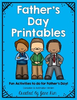 Father's Day Printables (Canadian & Australian Version)