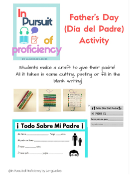 Father's Day (Día del Padre) Spanish Class Craft