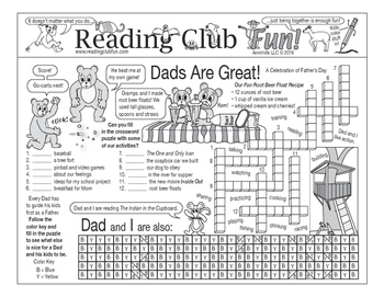 Dads Are Great (Father's Day) Two-Page Activity Set