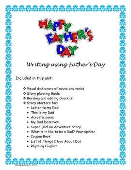 Father's Day Writing