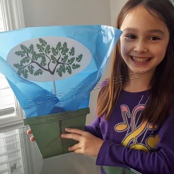Father's Day tree seedling planter with FREE fact sheet co