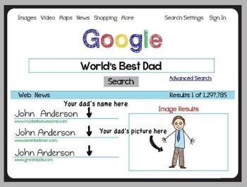 Father's Day Card- Google Search for World's Best Dad!  Su