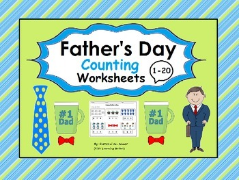 Father's Day Counting Worksheets (1-20):