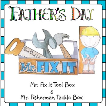 Father's Day Craft - Make Dad a Toolbox and a Fishing Tack