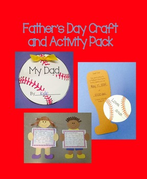 Father's Day Craft and Writing Activity Pack