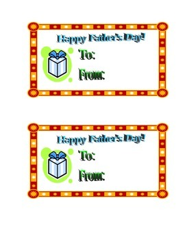 Father's Day Gift Tag