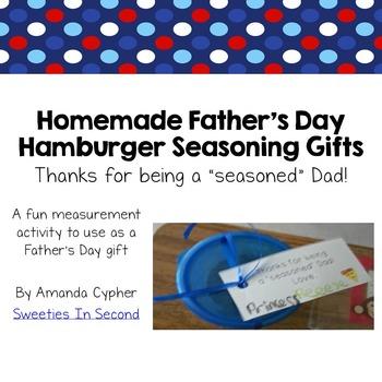 Father's Day--Hamburger Seasoning Gift